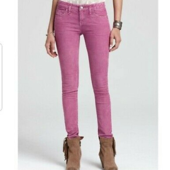 Free people Pink Skinny Jeans Size 31